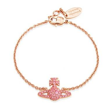 Vivienne Westwood Grace Pink Crystal Bracelet  - Click to view larger image