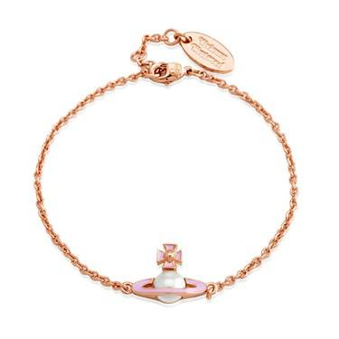 Vivienne Westwood Iris Pearl Pink Rose Gold Bracelet   - Click to view larger image