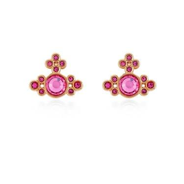 Vivienne Westwood Rose Gold Brucella Pink Earrings  - Click to view larger image