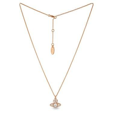Vivienne Westwood Rose Gold Valentina Necklace  - Click to view larger image