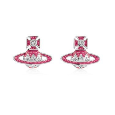 Vivienne Westwood Aretha Pink Earrings  - Click to view larger image