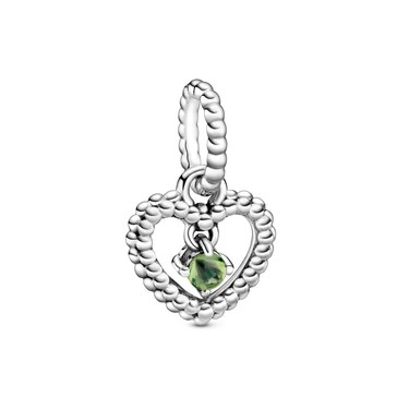 Pandora August Birthstone Heart Charm  - Click to view larger image