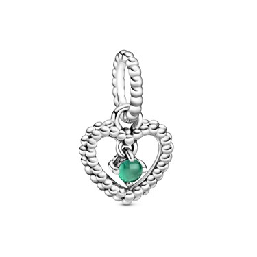 Pandora May Birthstone Heart Charm  - Click to view larger image