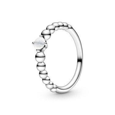 Pandora April Birthstone Beaded Ring  - Click to view larger image