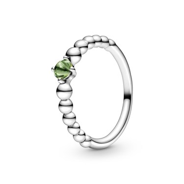 Pandora August Birthstone Beaded Ring  - Click to view larger image