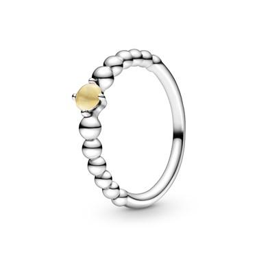 Pandora November Birthstone Beaded Ring  - Click to view larger image