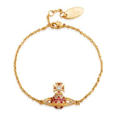 Vivienne Westwood Virginia Bas Relief Pink Bracelet  - Click to view larger image
