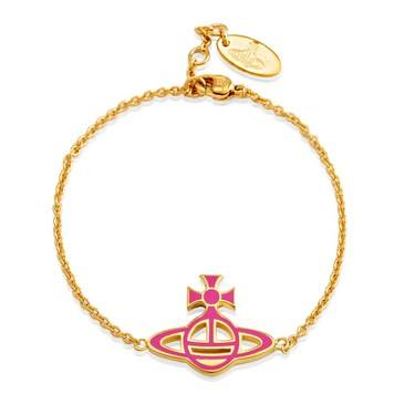 Vivienne Westwood Ornella Reversible Pink & White Bracelet  - Click to view larger image