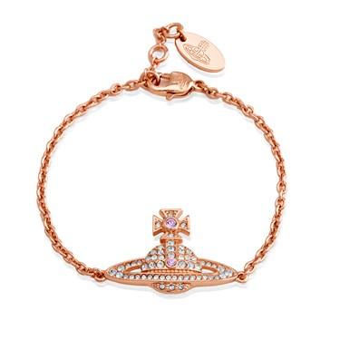 Vivienne Westwood Kika Rose Gold Crystal Bracelet  - Click to view larger image