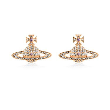 Vivienne Westwood Kika Rose Gold Crystal Earrings  - Click to view larger image