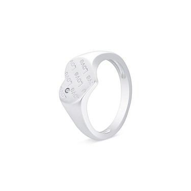 Argento Silver Love Script Lock Ring  - Click to view larger image