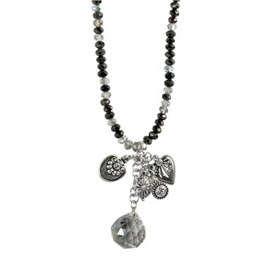 Karma Faceted Crystal Ball Necklace