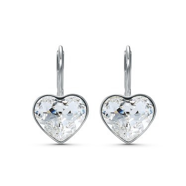 Swarovski Bella Heart Drop Earrings  - Click to view larger image