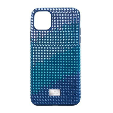 Swarovski Crystalgram iPhone 11 Pro Blue Anniversary Case  - Click to view larger image