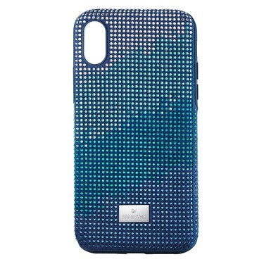 Swarovski Crystalgram iPhone X Blue Anniversary Case  - Click to view larger image