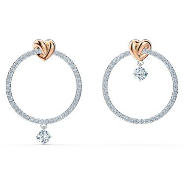 Swarovski Lifelong Heart Hoop Earrings  - Click to view larger image