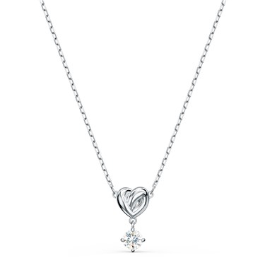 Swarovski Lifelong Heart Silver Necklace   - Click to view larger image