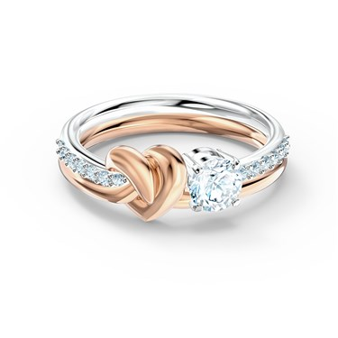 Swarovski Lifelong Heart Ring Size 55  - Click to view larger image