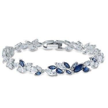 Swarovski Louison Blue + Silver Bracelet  - Click to view larger image