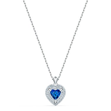 Swarovski One Blue Heart Necklace  - Click to view larger image