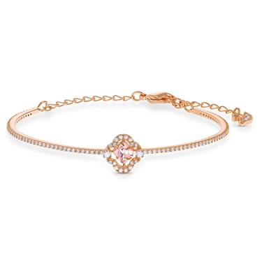 Swarovski Sparkling Dance Rose Gold + Pink Bracelet  - Click to view larger image