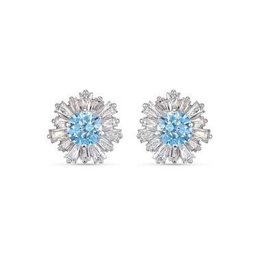 Swarovski Sunshine Blue Stud Earrings  - Click to view larger image