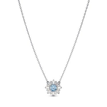 Swarovski Sunshine Blue Stud Necklace  - Click to view larger image