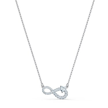 Swarovski Infinity Silver Necklace   - Click to view larger image