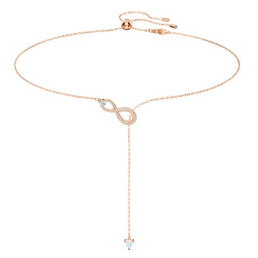 Swarovski Infinity Rose Gold Y Necklace  - Click to view larger image