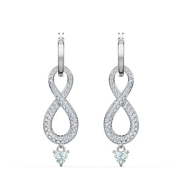 Swarovski Infinity Silver Drop Earrings  - Click to view larger image