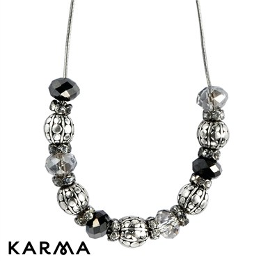 Karma Ethnic Cluster Bead Necklace