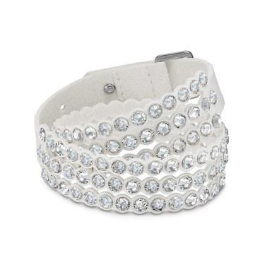 Swarovski Power Slake White Medium Bracelet   - Click to view larger image