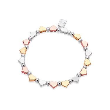 August Woods Mixed Metal Heart Bracelet   - Click to view larger image