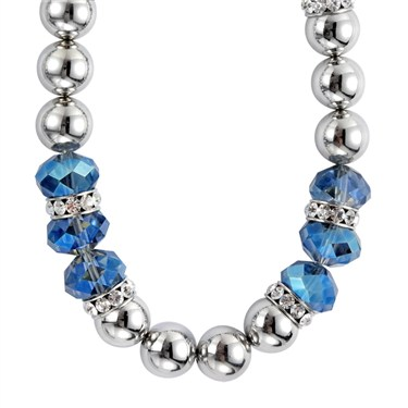 Karma Blue Faceted Bead Necklace