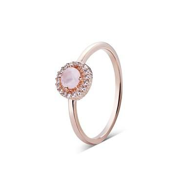 August Woods Rose Gold Dainty Blush Ring   - Click to view larger image