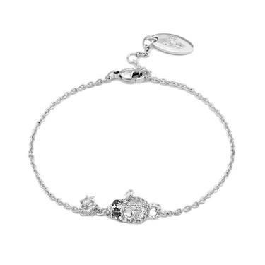 Vivienne Westwood Silver Crystal Rat Bracelet  - Click to view larger image