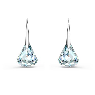 Swarovski Spirit Silver & Blue Drop Earrings   - Click to view larger image