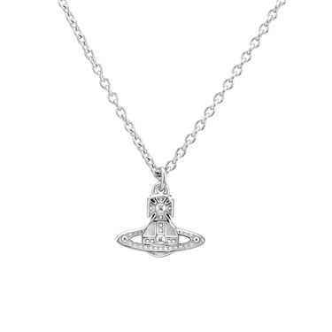 Vivienne Westwood Silver Oslo Pendant Necklace  - Click to view larger image