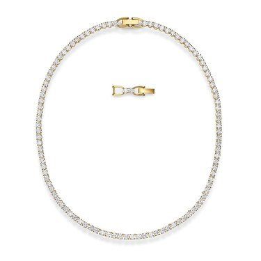 Swarovski Tennis Gold Deluxe All Around Necklace   - Click to view larger image