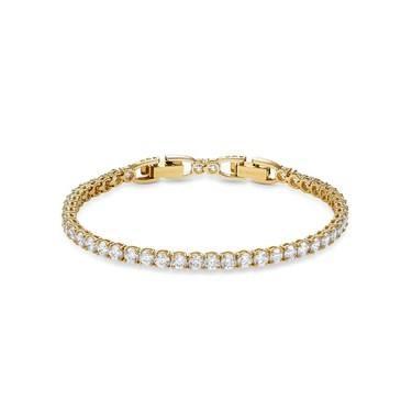 Swarovski Tennis Gold Deluxe Bracelet   - Click to view larger image