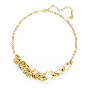 Swarovski Shell Gold Statement Necklace  - Click to view larger image