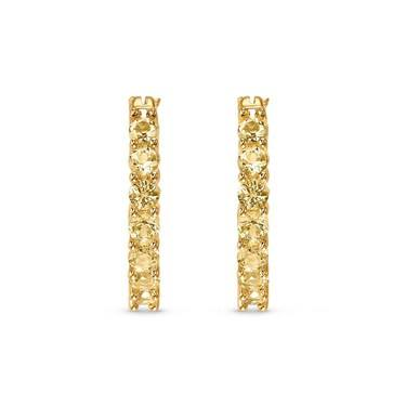 Swarovski Vittore Gold Hoop Earrings  - Click to view larger image