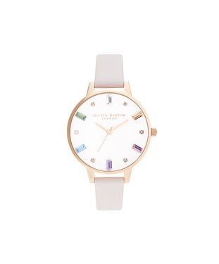 Olivia Burton Rainbow Blossom & Rose Gold Watch   - Click to view larger image
