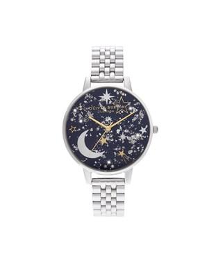 Olivia Burton Celestial Navy & Silver Bracelet Watch  - Click to view larger image