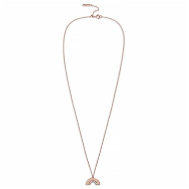 Olivia Burton Rose Gold Rainbow Necklace  - Click to view larger image