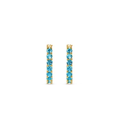 Swarovski Vittore Gold & Blue Hoop Earrings  - Click to view larger image