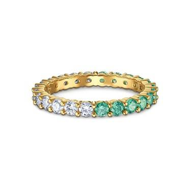Swarovski Vittore Gold Green + White Ring Size 52  - Click to view larger image
