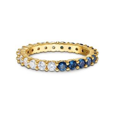 Swarovski Vittore Gold Blue + White Ring Size 52  - Click to view larger image