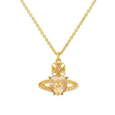 Vivienne Westwood Golden Shadow Ariella Heart Necklace  - Click to view larger image