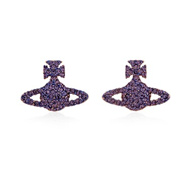 Vivienne Westwood Purple Grace Bas Relief Earrings  - Click to view larger image